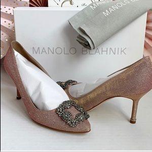 NWT Manolo Blahnik Hangisi Jeweled Pumps 💎